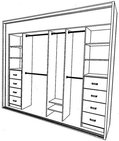 Wardrobe Layout | built in wardrobe layout this could work with our closet