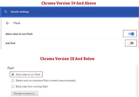 chrome enable flash how to enable flash player manually in chrome firefox safari etc