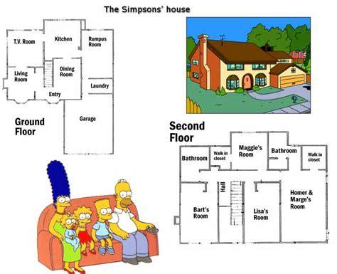 the simpsons house floor plan house home apartment garden esl resources