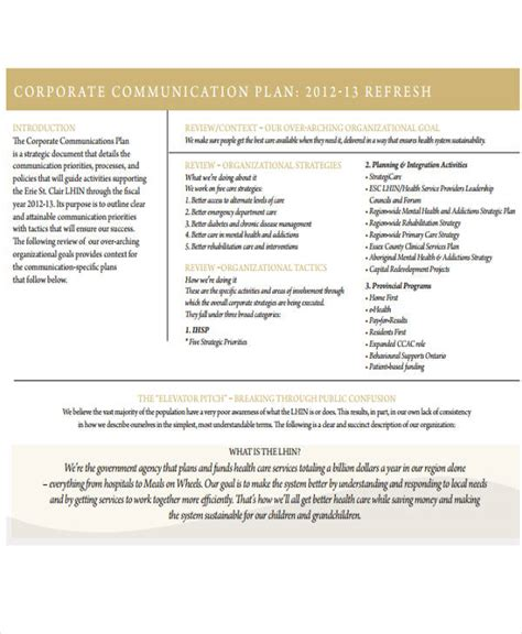 free communication plan templates 37 free word pdf