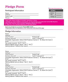 Pledge Form Template Word by Doc 464600 Donation Pledge Form Template Donation
