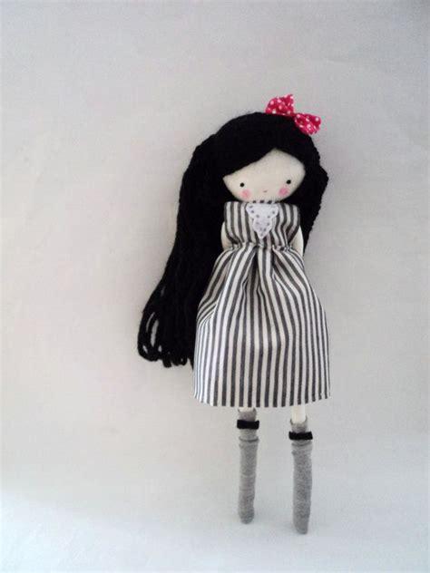Handmade Rag Doll - handmade rag doll ooak cloth rag doll black