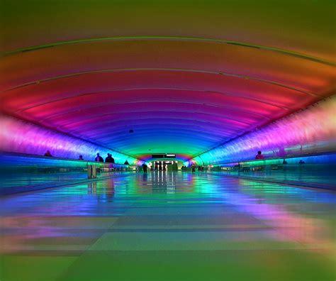 detroit airport light tunnel detroit s tunnel of light