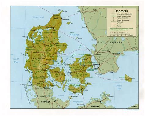 map if maps of denmark detailed map of denmark in