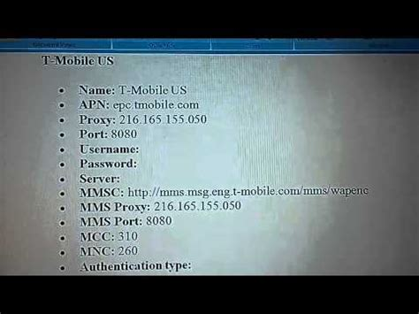 t mobile apn settings android tmobile apn settings