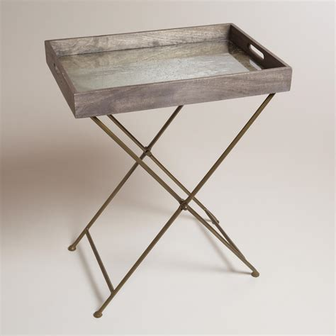 Tray Table by Mirrored Wood Butler Tray World Market
