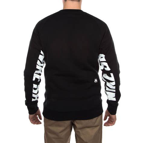 Hoodiesweater Nike E nike sb everett graphic crew fleece sweatshirt black white
