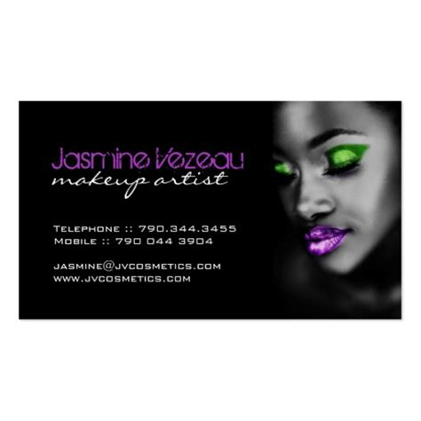 make up artist business card makeup artist business cards zazzle