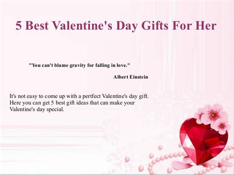 5 Valentines Day Gifts by 5 Best S Day Gifts For