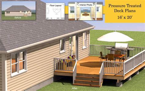 cost of backyard deck 16 x 20 pressure treated deck plans deck ideas