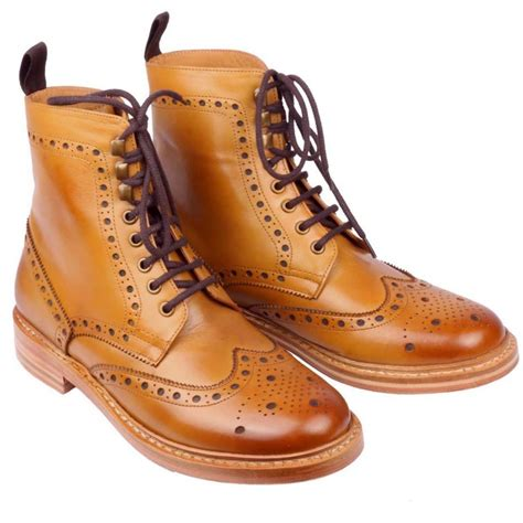 handmade wingtip brogue boots chelsea leather boots