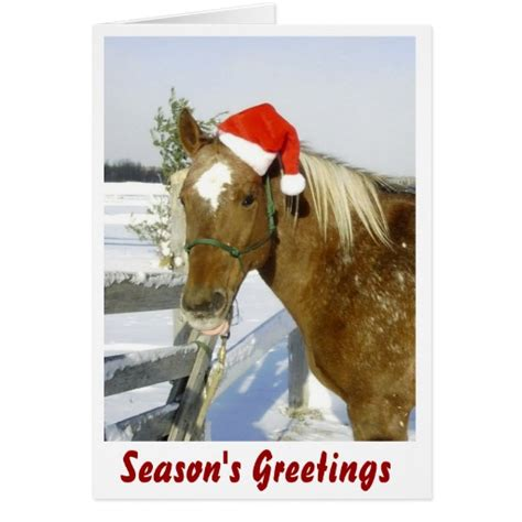 printable horse christmas cards horse season s greetings greeting cards zazzle