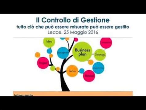 controllo di gestione il controllo di gestione lecce 25 maggio 2016