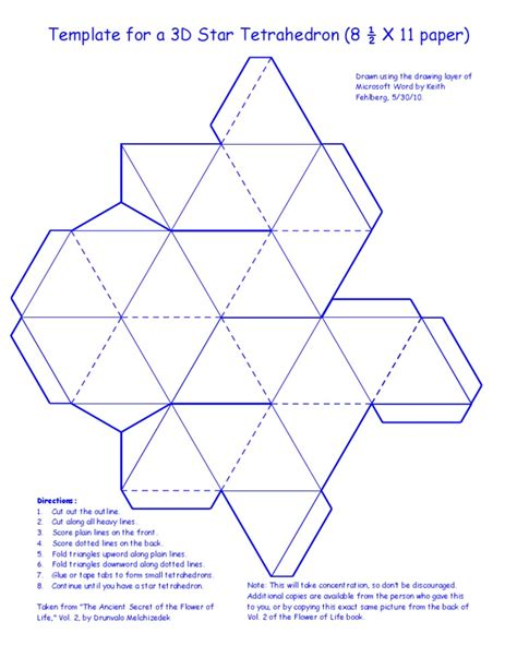 3d star tetrahedron template