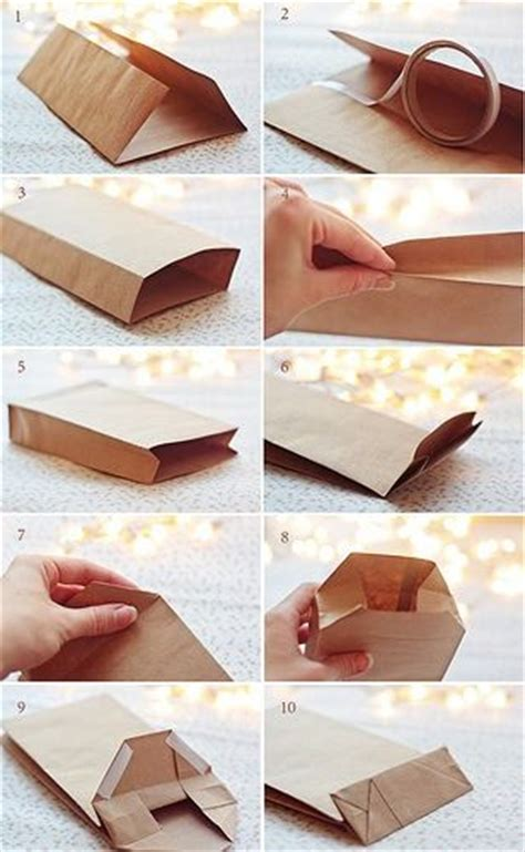 How To Make A Simple Paper Bag - diy paper gift bags step by step sacs