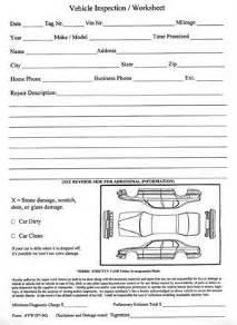 vehicle inspection worksheet avw
