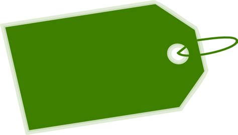 tag clipart green tag inverse side clip at clker vector clip