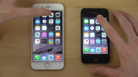 v iphone 6 official ios 8 2 iphone 6 vs iphone 4s app opening