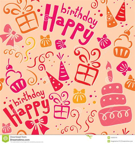 birthday pattern pink vector pink birthday pattern stock image image 15550131