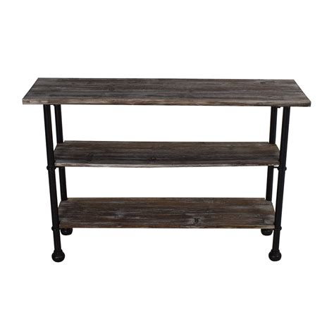 Shelf Table by 52 Unknown Rustic Brown Wood 3 Tier Shelf Table Storage