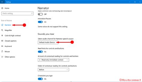 2 Audio Outputs Windows 10 by How To Choose Audio Channel For Narrator Speech Output On