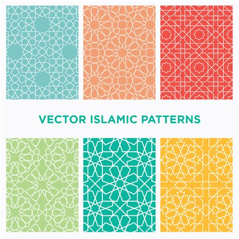 islamic style seamless pattern vector free download download six seamless vector islamic and arabic geometric