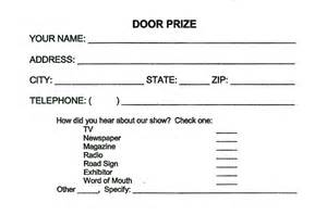 Print out our door prize entry formand bring it to the show with you