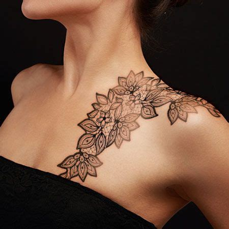 tattoo over shoulder designs 15 lace tattoos for the woman in you tattoo ideas