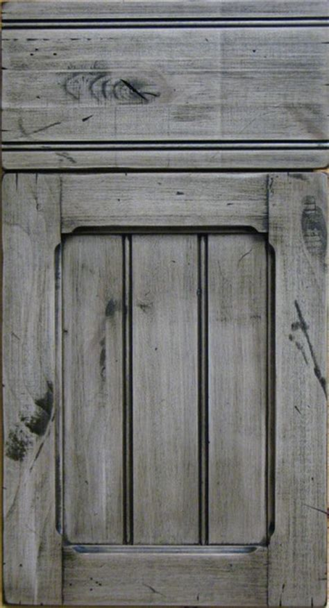 knotty alder custom shaker style distressed cabinet door