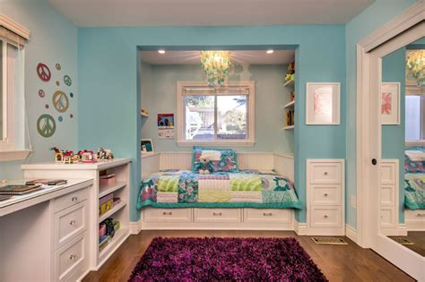 Window Seat Bedroom Ideas by S Room With Custom Bed Amp Built Ins Transitional