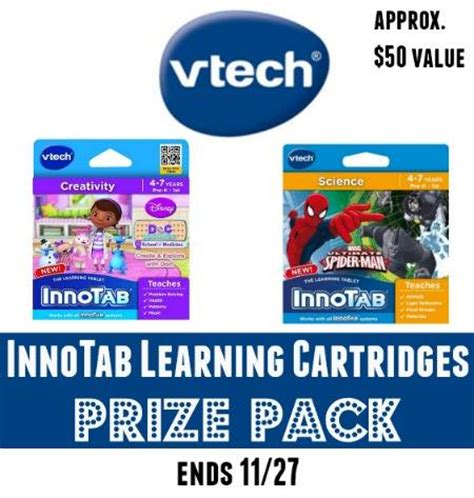 Vtech Giveaway - vtech innotab learning cartridges giveaway