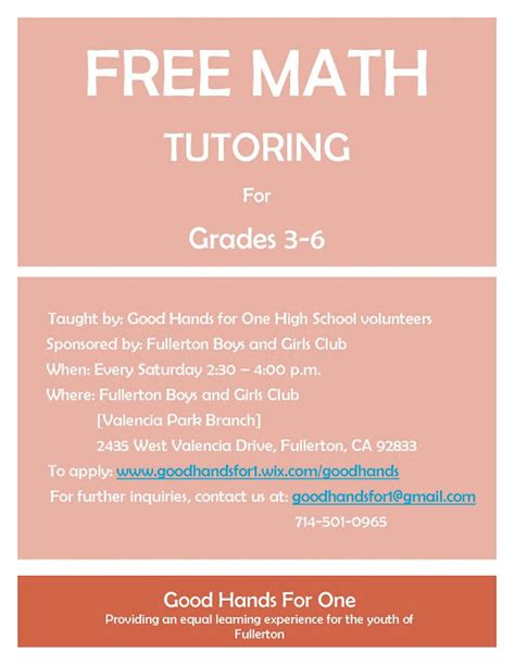 math tutor flyer template free math tutoring in