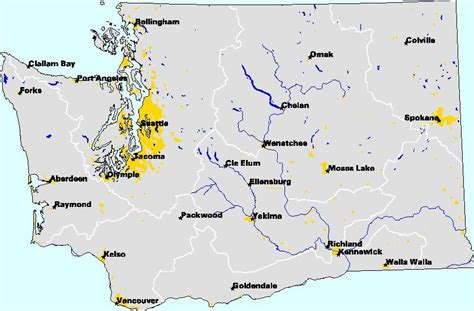 washington state map with cities major cities of washington map reasons to live in