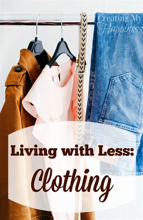 living with less living with less clothing