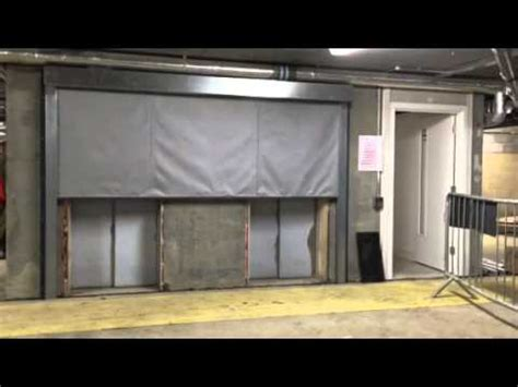 fire curtain maintenance fc60 fire curtain underground carpark youtube