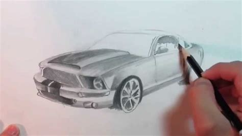 Mustang Auto Zeichnen by Speed Drawing Ford Mustang Pencil Youtube