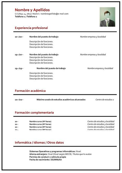 Modelo De Curriculum Vitae Y Sus Partes gu 205 a 191 c 243 mo hacer un curriculum vitae plantillas para