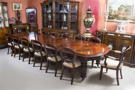 14 Dining Table Vintage Mahogany Dining Table With 14 Chairs