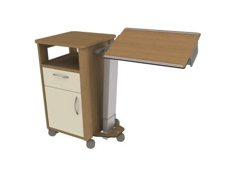 bett auf rollen edison select bedside cabinet with overbed table hill