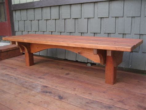 craftsman bench craftsman style redwood built in deck benches by