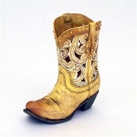Boot Vase by 4 5 Quot Mini Die Cut Scroll Cowboy Boot Dried Flower Vase