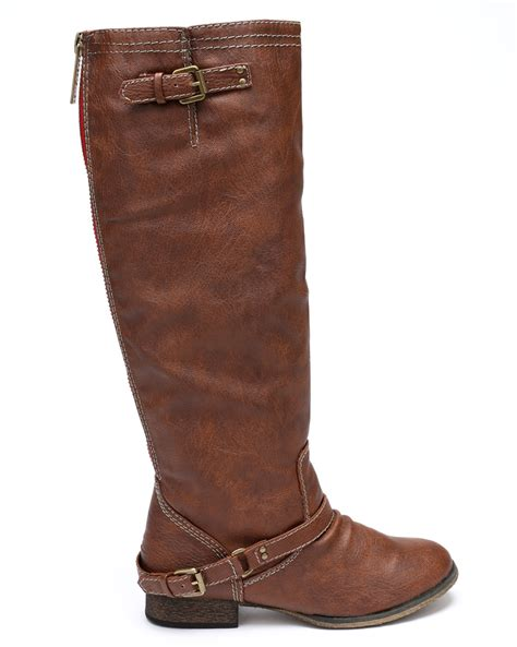 breckelles boots breckelles outlaw 81 new leatherette buckle zipper