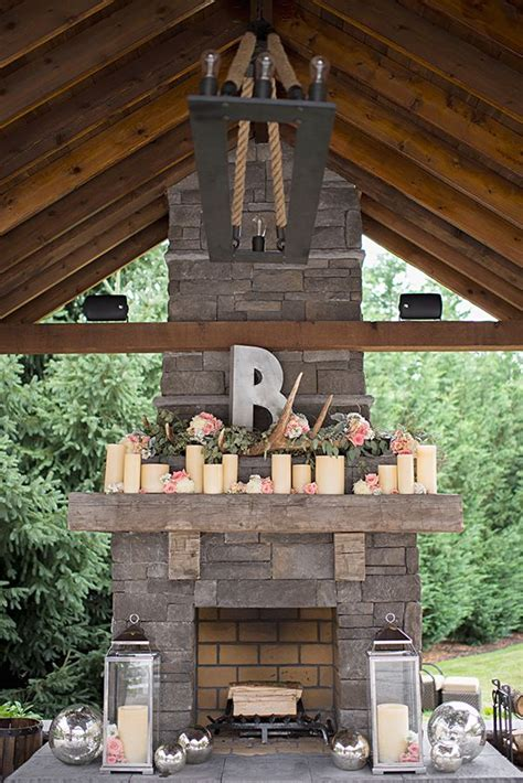 outdoor fireplace decor 25 best ideas about wedding fireplace decorations on