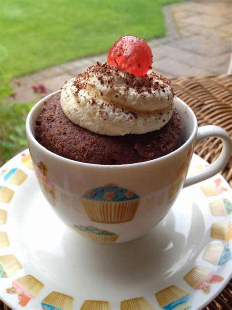 chocolate cake in a mug recipe garden tea cakes and me