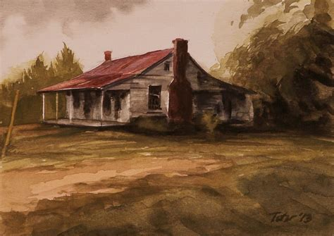 painting of house avid art old house zorn palette