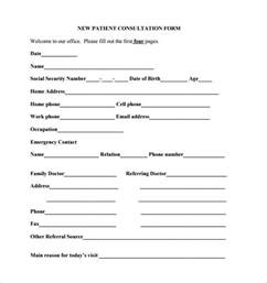 consult note template sle consultation form 11 free