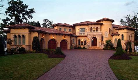 Luxury Mediterranean Homes Plan W17703lv European Mediterranean Luxury Photo