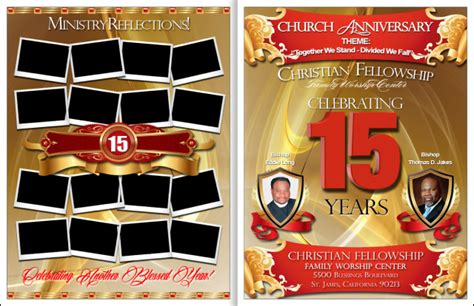 Awesome Church Anniversary Program Church Anniversary Church Anniversary Program Template