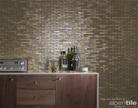 Glass Mosaic Tile Wall Glass Tile Feature Wall Alpentile Glass Tile Pools And Spas