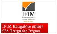 Mba With Cfa Programs In India by Ifim Bangalore Enters The Cfa Institute